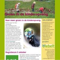nieuwsbrief Groene Kinderopvang